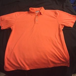 PGA Tour Dri-Fit Polo - Orange - Size XL